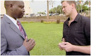 Scott Mills meets Ugandan MP David Bahati